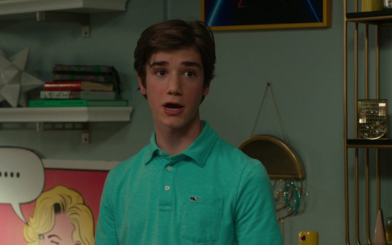 Vineyard Vines Green Polo Shirt Worn by Daniel DiMaggio in American Housewife (1)