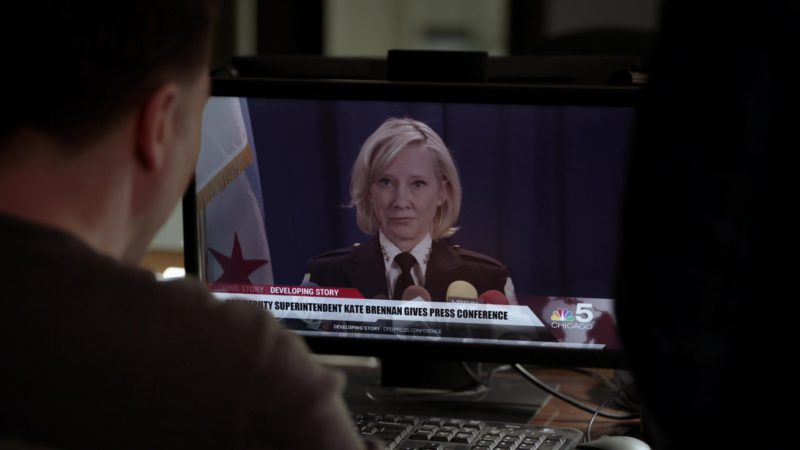 WMAQ-TV Chicago 5 Television Channel by NBC in Chicago P.D. - Season 6, Episode 21, Confession (2019) TV Show Product Placement