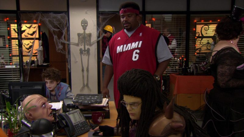 """Adidas x Miami Heat NBA Jersey Worn by Craig Robinson (Darryl Philbin) in The Office – Season 8, Episode 5, """"Spooked"""" (2011) - TV Show Product Placement"""