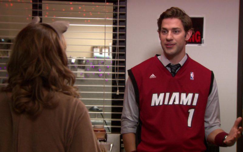 Adidas x Miami Heat NBA Jersey Worn by John Krasinski (Jim Halpert) in The Office (7)