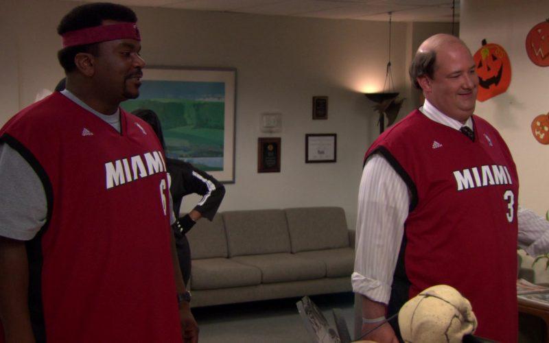 Adidas x Miami Heat NBA Jerseys Worn by Craig Robinson (Darryl Philbin) & Brian Baumgartner (Kevin Malone)