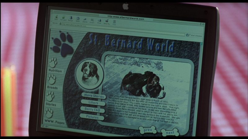 Apple Laptop Used by Michaela Gallo in Beethoven's 3rd (2000) - Movie Product Placement