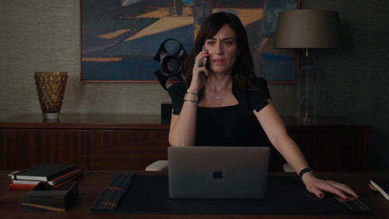 Apple MacBook Laptop Used by Maggie Siff (Wendy Rhoades) in Billions - Season 4, Episode 12, Extreme Sandbox (2019) - TV Show Product Placement