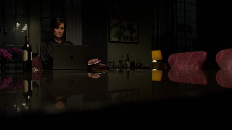 "Apple MacBook Pro Laptop Used by Carrie-Anne Moss in Jessica Jones - Season 3, Episode 9, ""A.K.A I Did Something Today"" (2019) - TV Show Product Placement"
