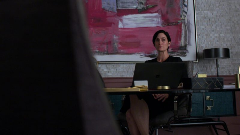 "Apple MacBook Pro Laptop Used by Carrie-Anne Moss in Jessica Jones - Season 3, Episode 6, ""A.K.A Sorry Face"" (2019) - TV Show Product Placement"