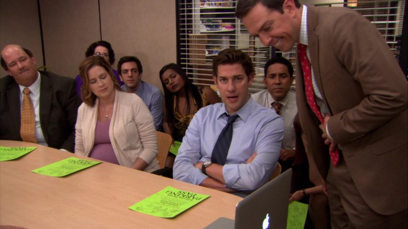 "Apple MacBook Pro Laptop Used by Ed Helms (Andy Bernard) in The Office – Season 8, Episode 4, ""Garden Party"" (2011) - TV Show Product Placement"