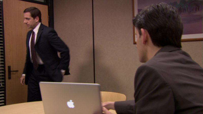 """Apple MacBook Pro Laptop Used by Zach Woods (Gabe Lewis) in The Office – Season 6, Episode 15, """"Sabre"""" (2010) - TV Show Product Placement"""