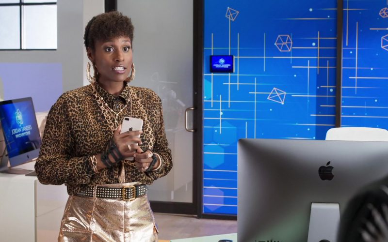 Apple iMac Computer and iPhone Smartphone Used by Issa Rae in Little (1)