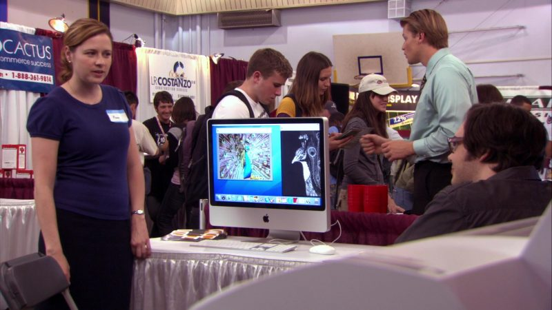 """Apple iMac Computer in The Office – Season 4, Episode 17, """"Job Fair"""" (2008) - TV Show Product Placement"""