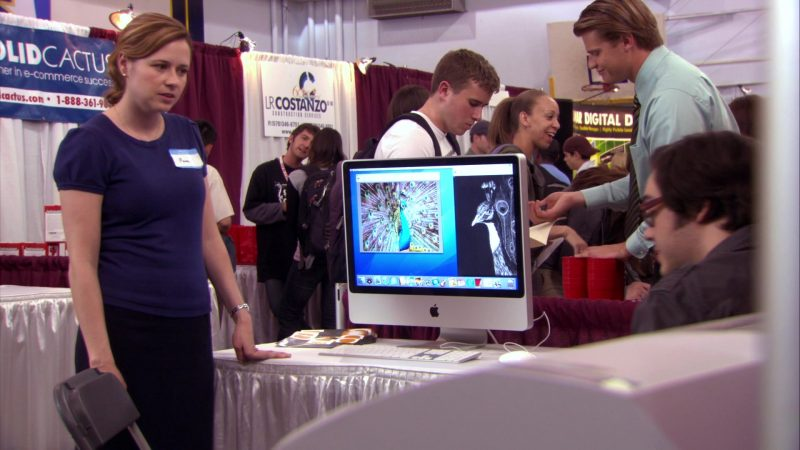 """Apple iMac Computer in The Office – Season 4, Episode 17, """"Job Fair"""" (2008) TV Show Product Placement"""