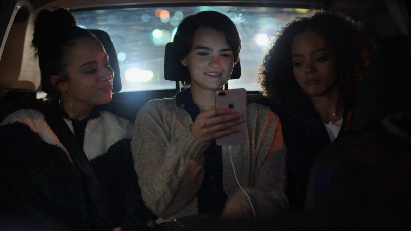 """Apple iPhone Smartphone Held by Brianna Hildebrand in Trinkets - Season 1, Episode 7, """"Truth Serum"""" (2019) - TV Show Product Placement"""