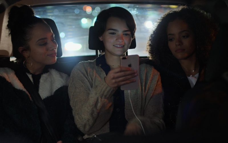 Apple iPhone Smartphone Held by Brianna Hildebrand in Trinkets