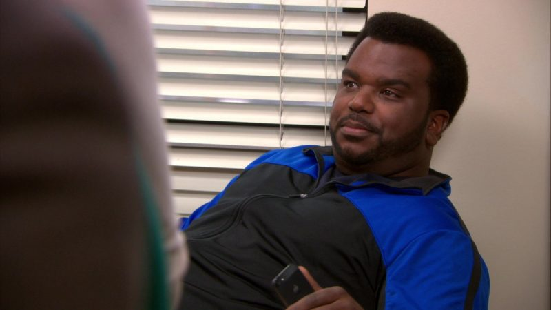 "Apple iPhone Smartphone Held by Craig Robinson (Darryl Philbin) in The Office – Season 9, Episodes 22-23, ""A.A.R.M."" (2013) - TV Show Product Placement"