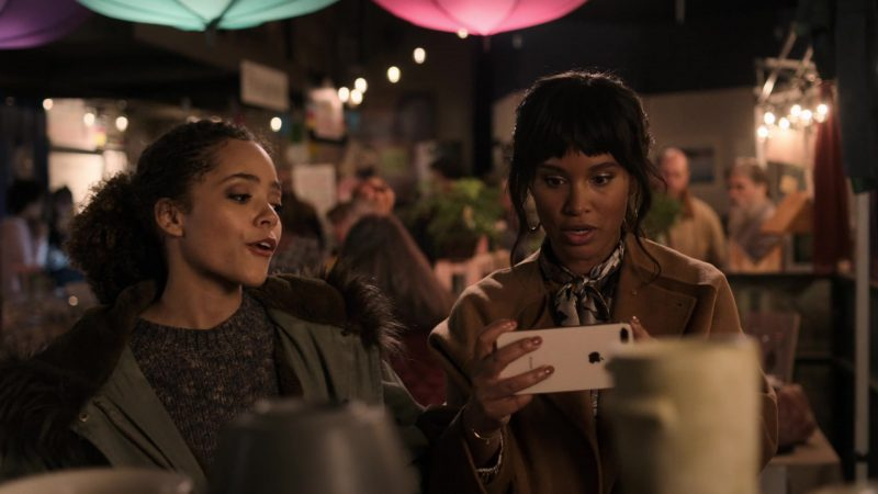 """Apple iPhone Smartphone Used by Joy Bryant in Trinkets - Season 1, Episode 9, """"Night Market"""" (2019) - TV Show Product Placement"""