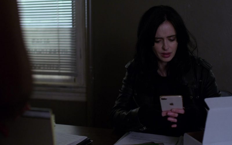 Apple iPhone White Smartphone Used by Krysten Ritter in Jessica Jones
