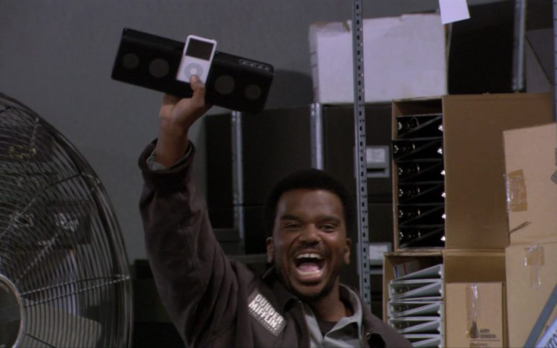 Apple iPod Media Player Held by Craig Robinson (Darryl Philbin) in The Office