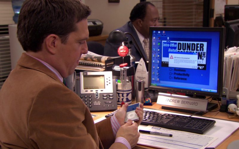 Apple iPod Media Player and Cisco Phone Used by Ed Helms (Andy Bernard) in The Office
