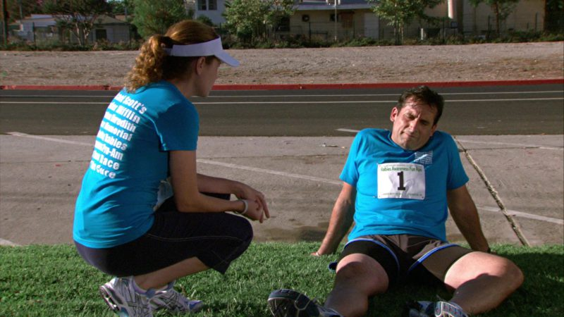 """Asics Women's Sneakers Worn by Jenna Fischer (Pam Beesly) in The Office – Season 4, Episodes 1-2, """"Fun Run"""" (2007) TV Show Product Placement"""