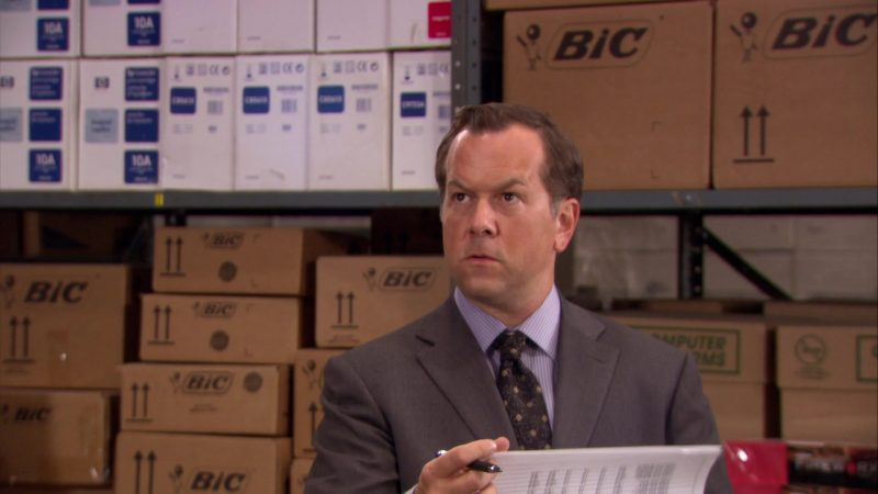 """BIC in The Office – Season 6, Episode 14, """"The Banker"""" (2010) - TV Show Product Placement"""