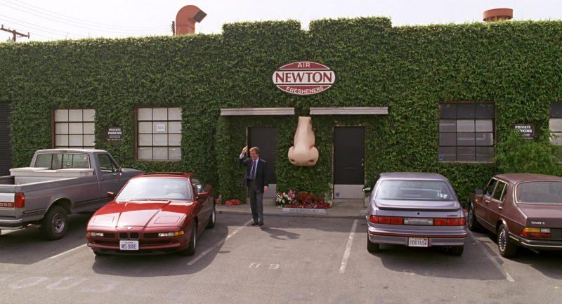 BMW 850i [E31] Red Car Used by Patricia Heaton in Beethoven (1992) - Movie Product Placement