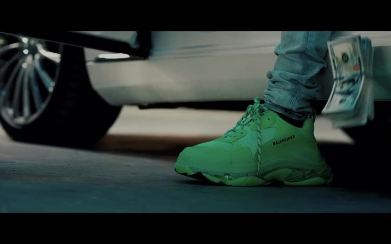 Balenciaga Men's Green Sneakers Worn by Rich The Kid in Racks Today (1)