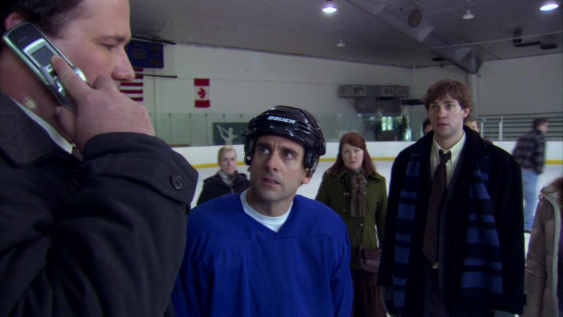 "Bauer Ice Hockey Helmet Worn by Steve Carell (Michael Scott) in The Office – Season 2, Episode 19, ""Michael's Birthday"" (2006) - TV Show Product Placement"