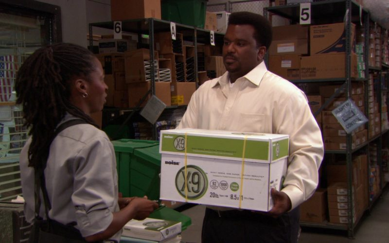 Boise Paper X-9 Box Held by Craig Robinson (Darryl Philbin) in The Office (1)