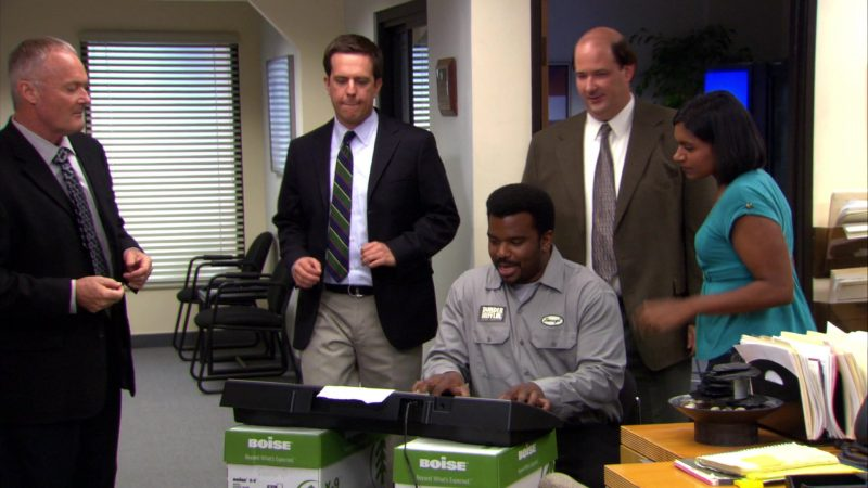"""Boise Paper in The Office – Season 4, Episode 9, """"Local Ad"""" (2007) - TV Show Product Placement"""