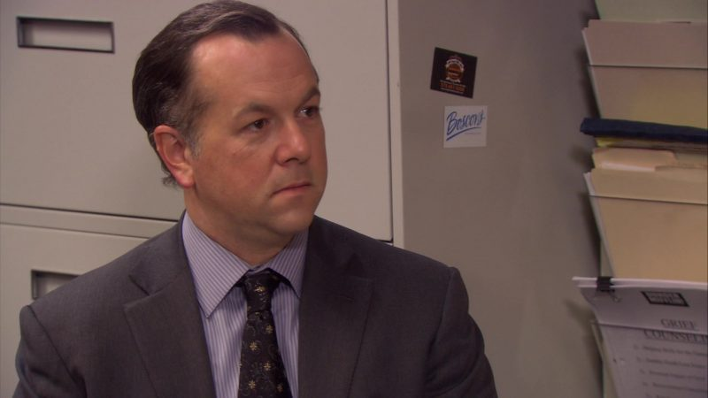 """Boscov's Department Store Sticker (Starring David Costabile) in The Office – Season 6, Episode 14, """"The Banker"""" (2010) - TV Show Product Placement"""