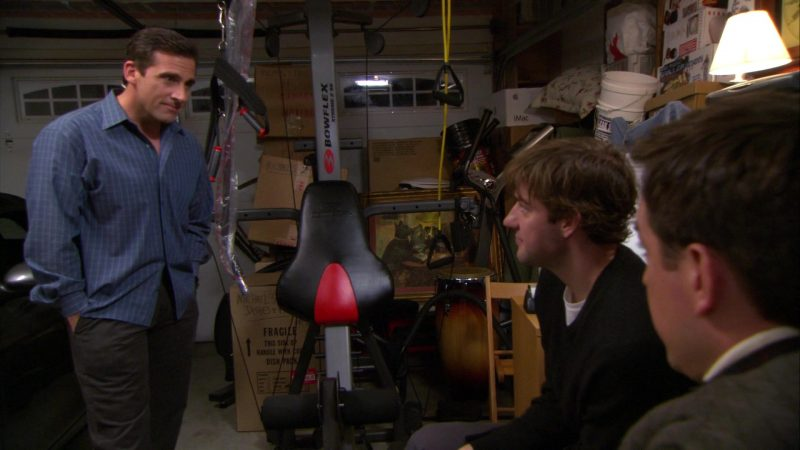 "Bowflex Fitness Training System Used by Steve Carell (Michael Scott) in The Office – Season 4, Episode 13, ""Dinner Party"" (2008) TV Show Product Placement"
