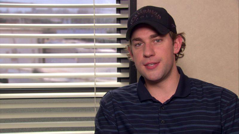 "Callaway Golf Cap Worn by John Krasinski (Jim Halpert) in The Office – Season 4, Episode 17, ""Job Fair"" (2008) TV Show Product Placement"