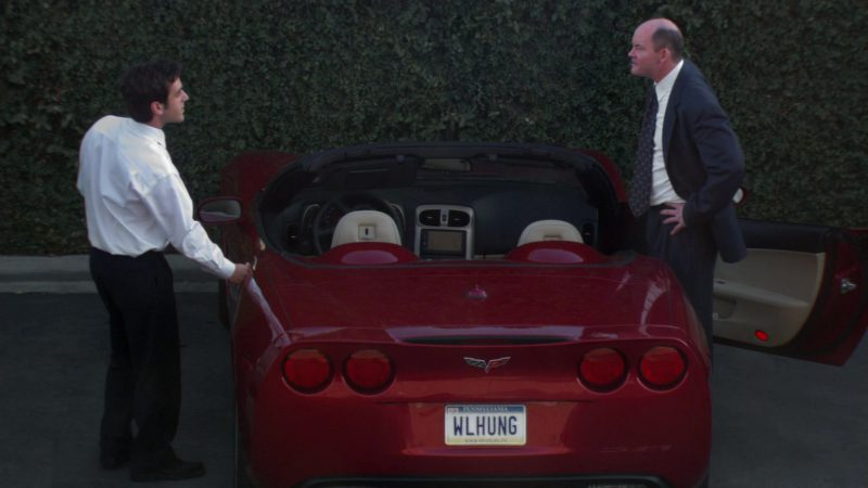 "Chevrolet Corvette C6 Convertible Red Car Used by David Koechner (Todd Packer)  in The Office – Season 2, Episode 2, ""Sexual Harassment"" (2005) TV Show Product Placement"