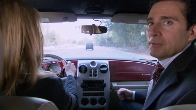 "Chrysler PT Cruiser Red Convertible Car Used by Steve Carell (Michael Scott) in The Office – Season 4, Episode 12, ""The Deposition"" (2007) TV Show Product Placement"