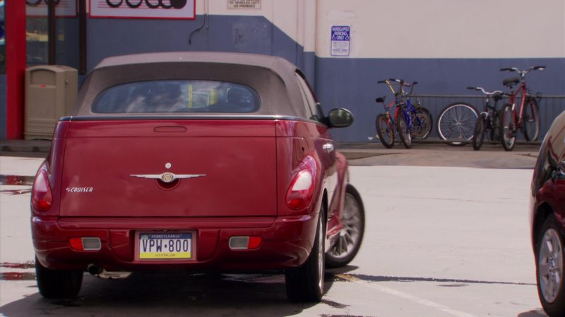 """Chrysler PT Cruiser Convertible Red Car Driven by Steve Carell (Michael Scott) in The Office – Season 5, Episode 22, """"Dream Team"""" (2009) - TV Show Product Placement"""