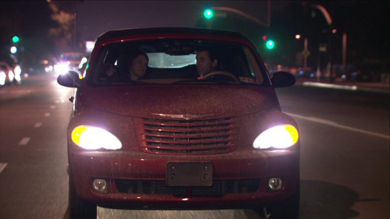 """Chrysler PT Cruiser Convertible Red Car Driven by Steve Carell (Michael Scott) in The Office – Season 5, Episode 11, """"Moroccan Christmas"""" (2008) TV Show Product Placement"""