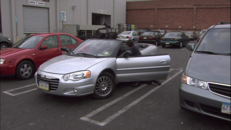 """Chrysler Sebring Convertible Car Used by Steve Carell (Michael Scott) in The Office - Season 1, Episode 6, """"Hot Girl"""" (2005) TV Show Product Placement"""