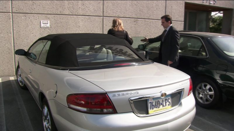 """Chrysler Sebring Convertible Car Used by Steve Carell (Michael Scott) in The Office – Season 2, Episode 7, """"The Client"""" (2005) TV Show"""