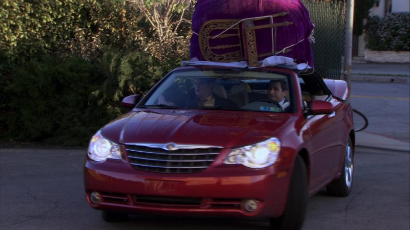 "Chrysler Sebring Convertible Red Car Used by Steve Carell (Michael Scott) in The Office – Season 6, Episode 20, ""New Leads"" (2010) - TV Show Product Placement"