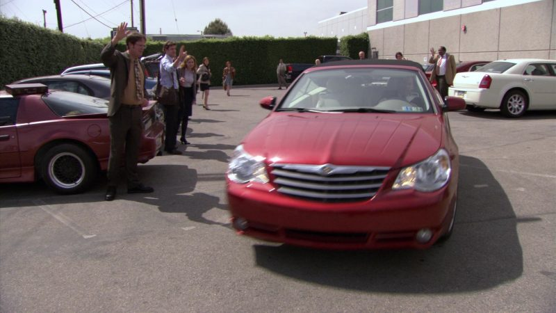 """Chrysler Sebring Convertible Red Car Used by Steve Carell (Michael Scott) in The Office – Season 5, Episode 28, """"Company Picnic"""" (2009) - TV Show Product Placement"""