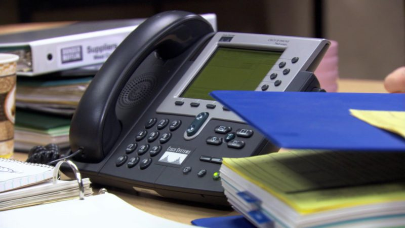 """Cisco IP Phone in The Office – Season 3, Episode 9, """"The Convict"""" (2006) - TV Show Product Placement"""