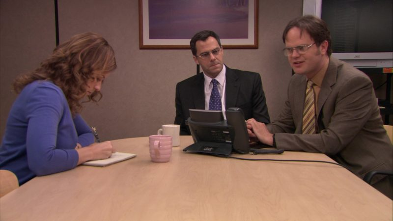 """Cisco IP Phone in The Office – Season 5, Episode 19, """"Golden Ticket"""" (2009) TV Show Product Placement"""