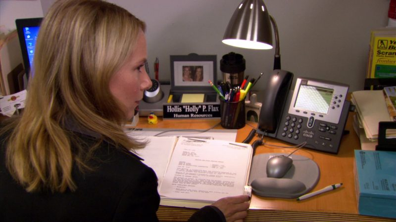 """Cisco Phone Used by Amy Ryan (Holly Flax) in The Office – Season 5, Episodes 1-2, """"Weight Loss"""" (2008) - TV Show Product Placement"""