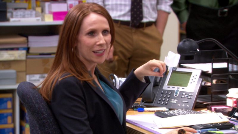 "Cisco Phone Used by Catherine Tate (Nellie Bertram) in The Office – Season 9, Episode 1, ""New Guys"" (2012) - TV Show Product Placement"