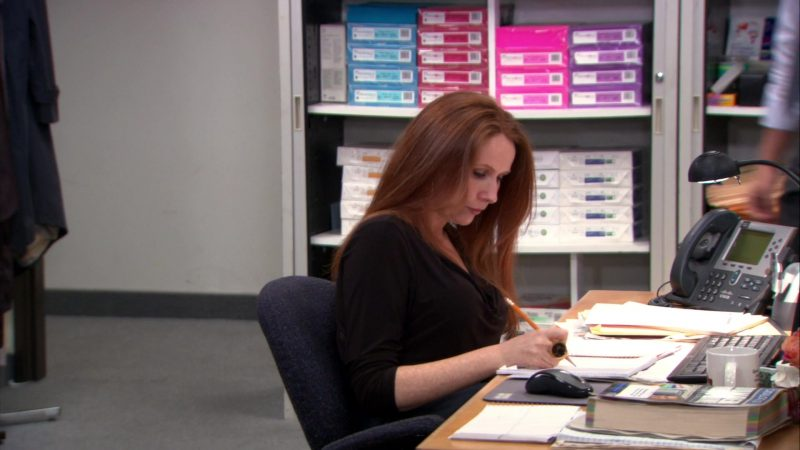 "Cisco Phone Used by Catherine Tate (Nellie Bertram) in The Office – Season 9, Episodes 22-23, ""A.A.R.M."" (2013) - TV Show Product Placement"