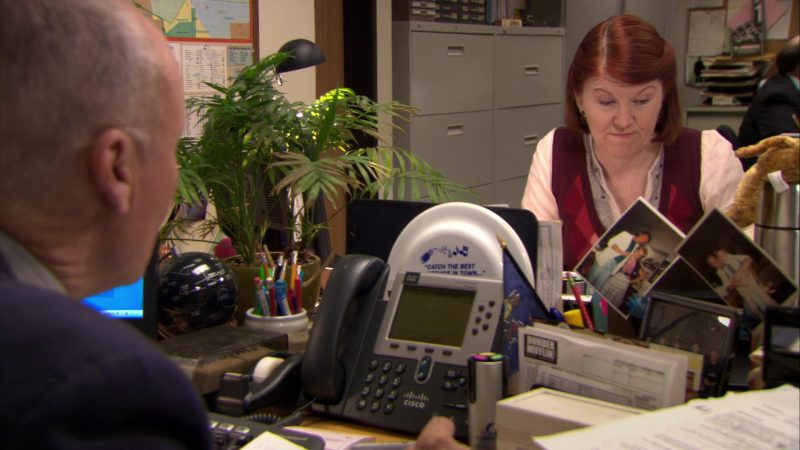 """Cisco Phone Used by Creed Bratton in The Office – Season 6, Episode 3, """"The Promotion"""" (2009) TV Show Product Placement"""