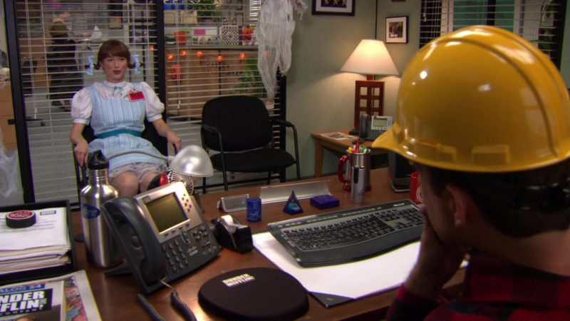 "Cisco Phone Used by Ed Helms (Andy Bernard) in The Office – Season 8, Episode 5, ""Spooked"" (2011) TV Show Product Placement"