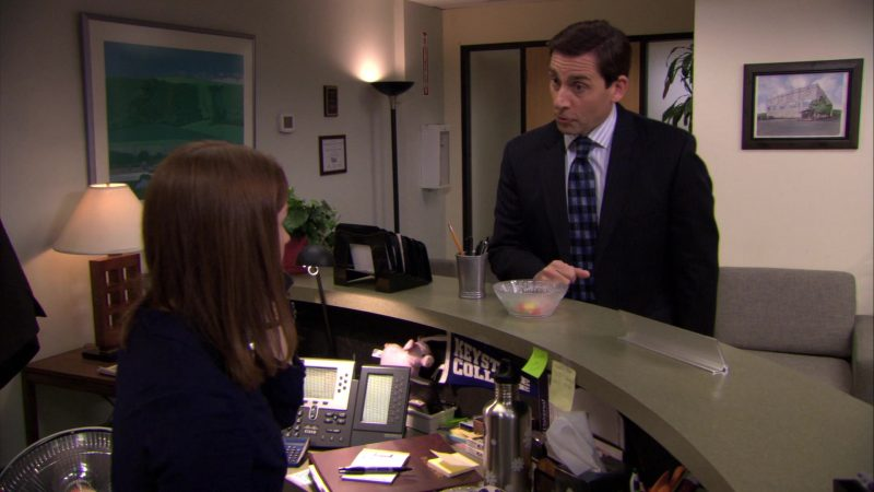 """Cisco Phone Used by Ellie Kemper (Erin Hannon) in The Office – Season 6, Episode 23, """"Body Language"""" (2010) - TV Show Product Placement"""