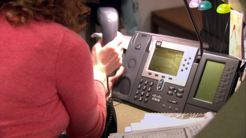"Cisco Phone Used by Jenna Fischer (Pam Beesly) in The Office – Season 4, Episode 16, ""Did I Stutter?"" (2008) - TV Show Product Placement"