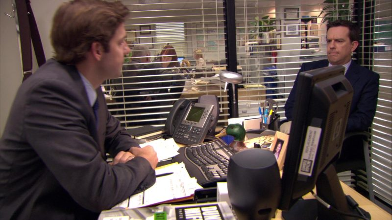 "Cisco Phone Used by John Krasinski (Jim Halpert) in The Office – Season 6, Episode 7, ""The Lover"" (2009) - TV Show Product Placement"