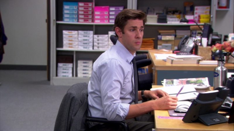 "Cisco Phone Used by John Krasinski (Jim Halpert) in The Office – Season 9, Episode 3, ""Andy's Ancestry"" (2012) - TV Show Product Placement"